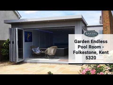 endless pool room attached to housebakers timber buildings - youtube