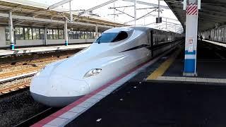 JR山陽新幹線 のぞみN700S系博多行 J2編成 福山駅発車