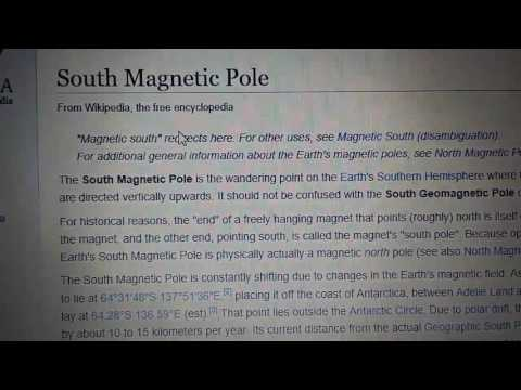 Flat Earth vs Globe there isn't a South Magnetic Pole!