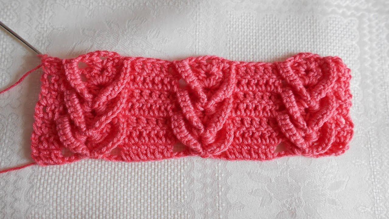 Crochet Punto Fantasia Punto Espiga En Crochet Punto Trigo En Crochet Youtube