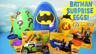 Batman Play-doh Surprise Eggs with New Imaginext Batman Toys & a Batman Surprise Egg by KidCity