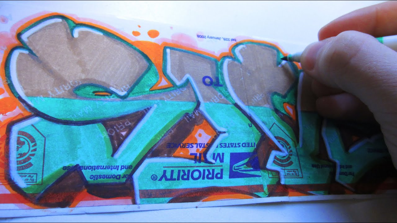 Weird Graffiti Color Combo Speed Art - YouTube