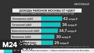 Смотреть видео Названы районы Москвы с самыми высокими доходами от НДФЛ - Москва 24 онлайн