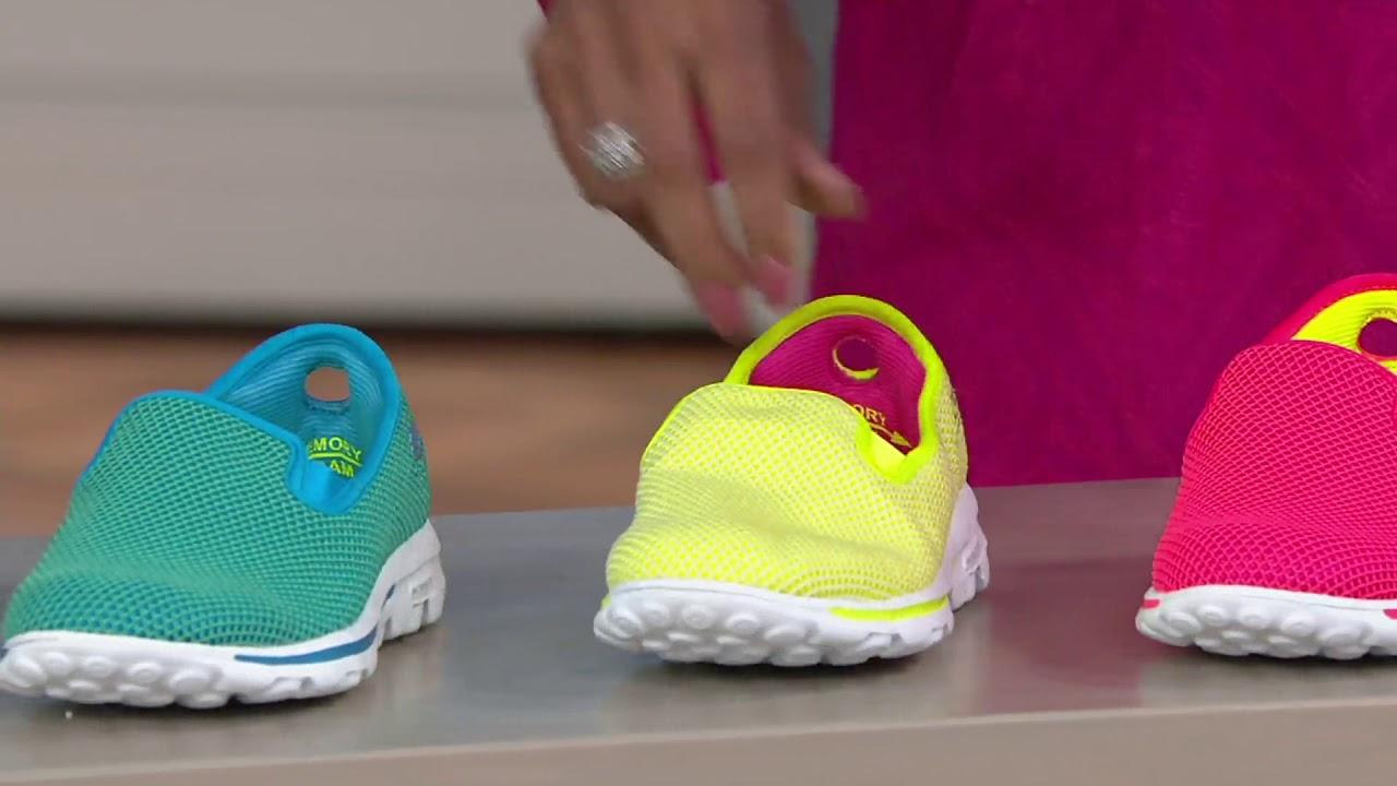 skechers go walk slip on mesh sneakers