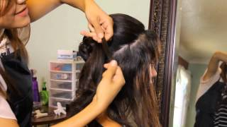 How to Make a Fancy Fan Chignon : Tress to Impress