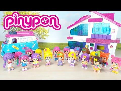 MONDO PINYPON italiano, Ep.1 giochi per bambine, 20 bamboline cui cui giocare!