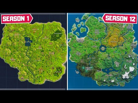 Evolution Of The Entire Fortnite Map! (Chapter 1 Season 1 - Chapter 2 Season 2)