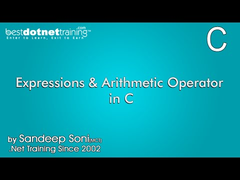Expressions and Arithmetic Operators in C - C Training Tutorial