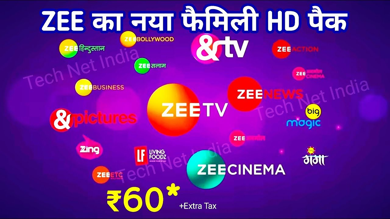 Zee Launch New Family Hd Pack 60 With 24 Paid Channels Youtube