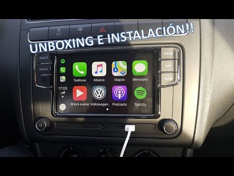 Unboxing e instalacion radio RCD330 Plus CarPlay VW POLO/VENTO/JETTA