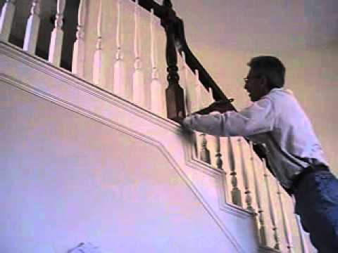 How to paint stairway spindles YMOD  YouTube