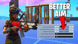 THIS NEW SETTING MADE MY FORTNITE AIM BETTER **Trying Foot Controller Setting**