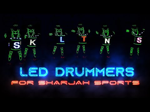 LED Drummers And Robots For Sharjah Sports (UAE)