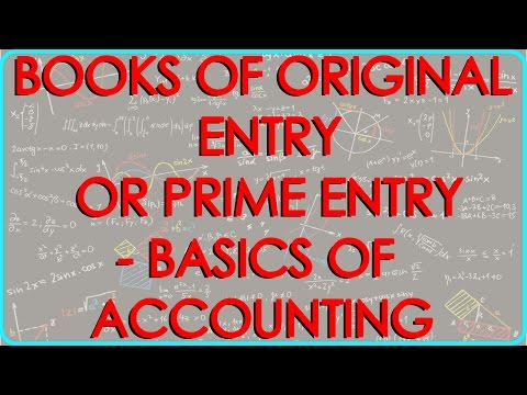 CA - CPT | Books of Original Entry or Prime Entry - Basics of Accounting - Accounts