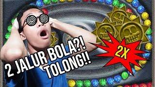 2 Lintasan dan 2 lubang bola?! TOLONG! I Zuma Deluxe Indonesia Gameplay #2