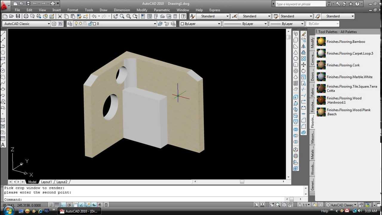 Tutorial Membuat 3D Modeling dengan Autocad 2010 - YouTube