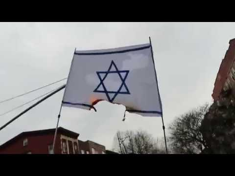 Burning the Israeli flag in NYC