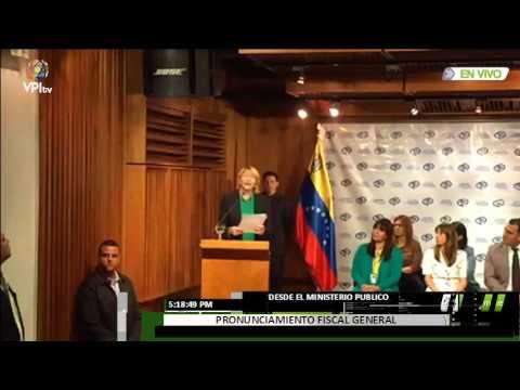 Último Pronunciamiento de la Fiscal General Luisa Ortega DÍaz