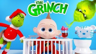 The Grinch Movie Green Slime Jail Game with Incredibles 2 Baby Jack Jack