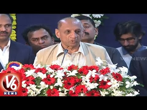 Governor Narasimhan Attends TS Energy Conservation Awards 2018 | Hyderabad | V6 News