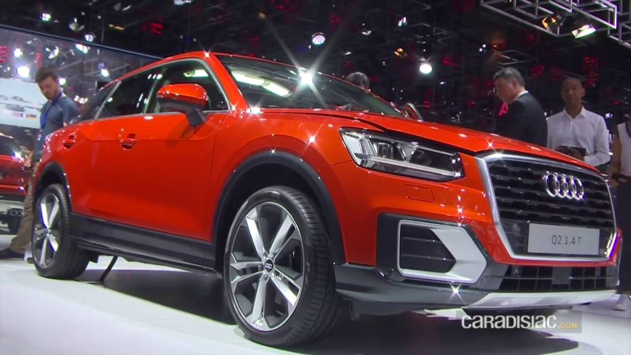 audi q2 : en direct du mondial de paris 2016 - youtube