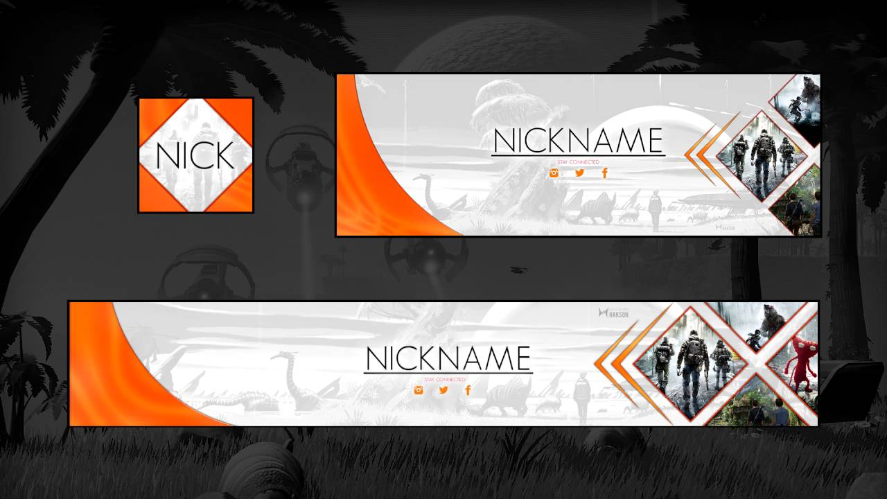 Free Cool Gaming Revamp : Banner & Header PSD | Photoshop Template ...