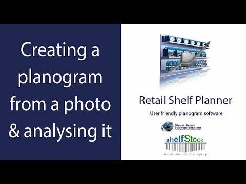 retail shelf planner performing analysis on a planogram