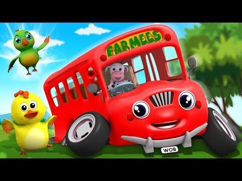Rodas do ônibus gira gira | canção de ônibus | Wheels On The Bus in Portuguese | Farmees Português