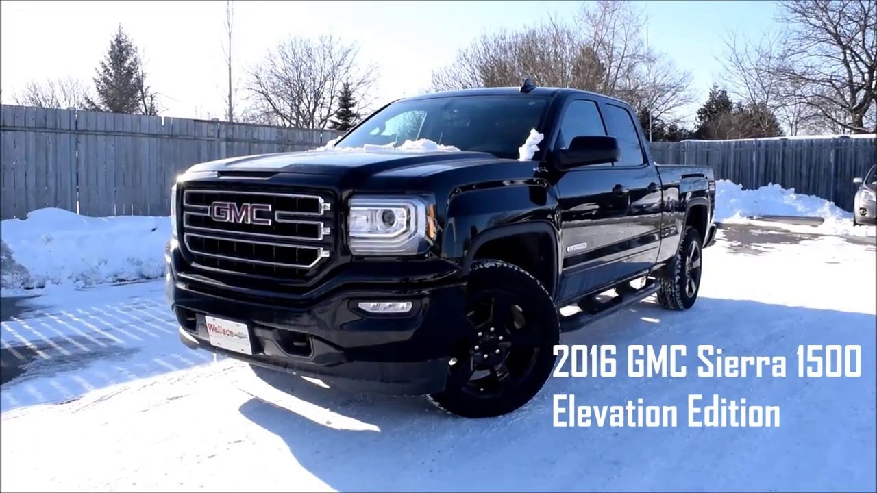 2018 gmc sierra elevation edition msrp