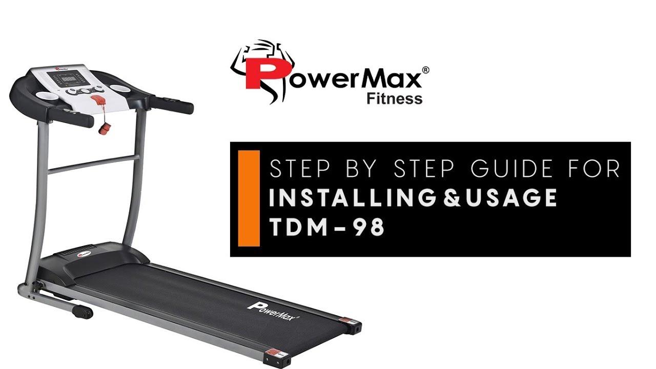 powermax fitness tdm 98 treadmill installation how to use guide rh youtube com