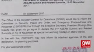 November 13-15, idineklarang special non-working holiday (CNN Philippines Balitaan)