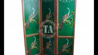 Furniture Wooden Screen Indian Furniture & Handicraft Manufacturer And Exporter (painted Furniture)