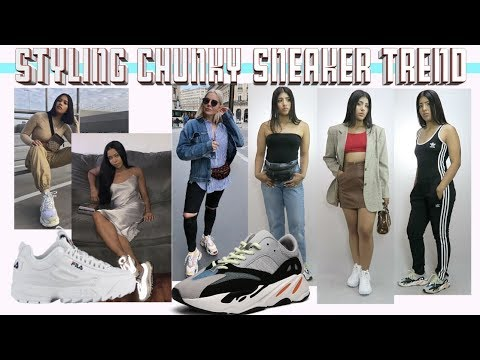 Styling Fila Disruptors || How to CHUNKY SNEAKER TREND