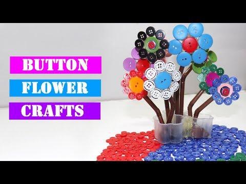 easy-button-flower-craft-|-diy-flower-project