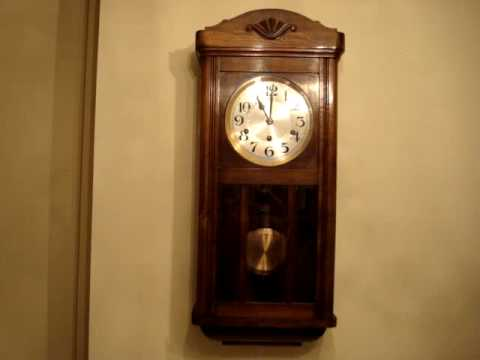 Antique 1924c French Westminster Striking Wall Clock
