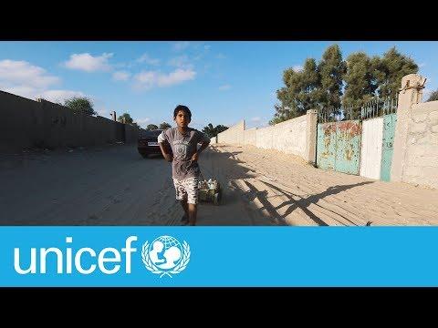 Clean water - a daily struggle for children in Gaza | UNICEF