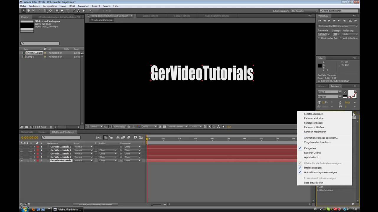 After Effects Effekte und Vorlagen - YouTube