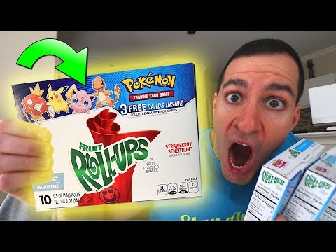 NEW Pokemon Cards IN FRUIT ROLL UPS! Pack OPENING Sun and Moon Promo Cards!