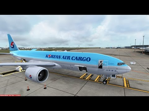 Prepar3D PMDG 777F Landing YSSY Kingsford Smith Internationa