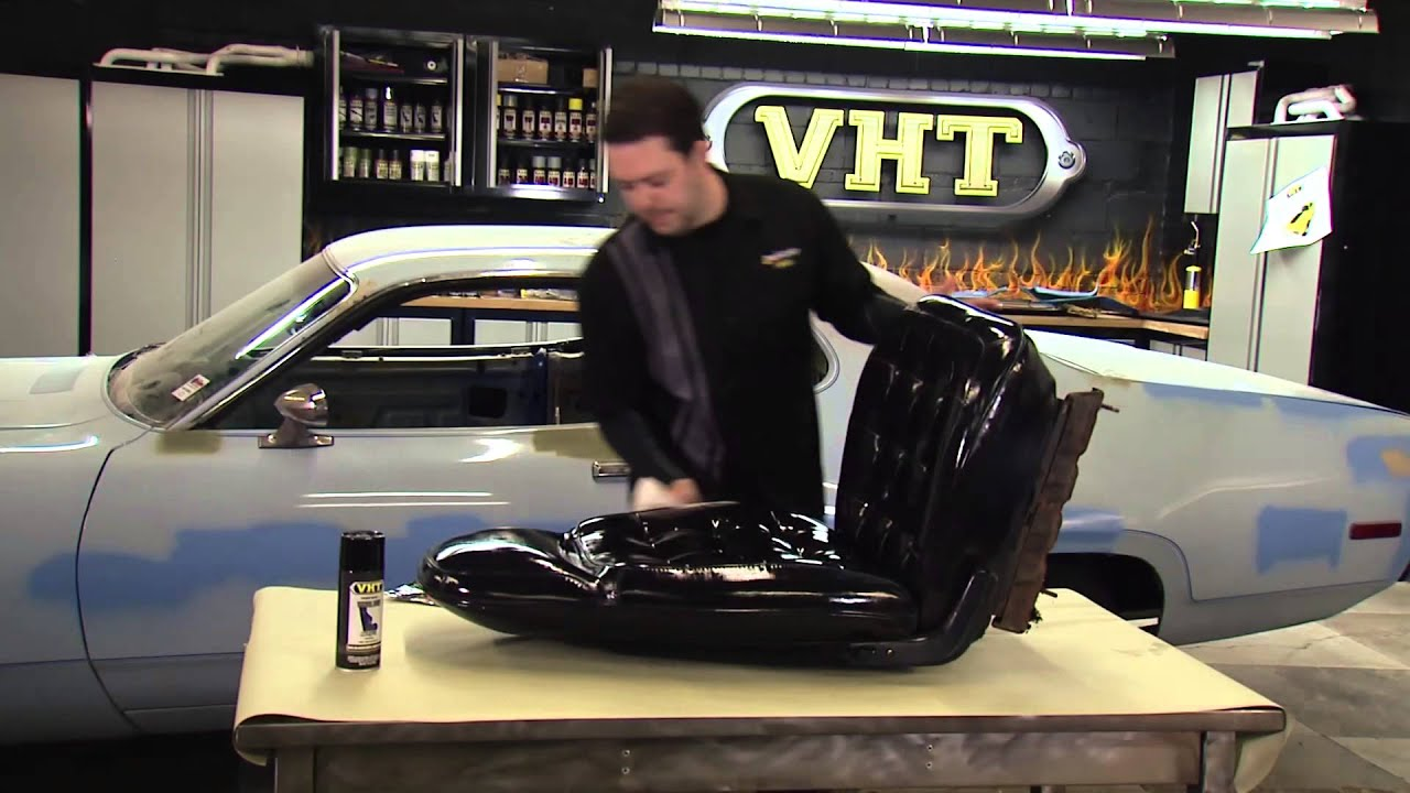painting car seats with vht vinyl dye restoration of 1972 plymouth. Black Bedroom Furniture Sets. Home Design Ideas