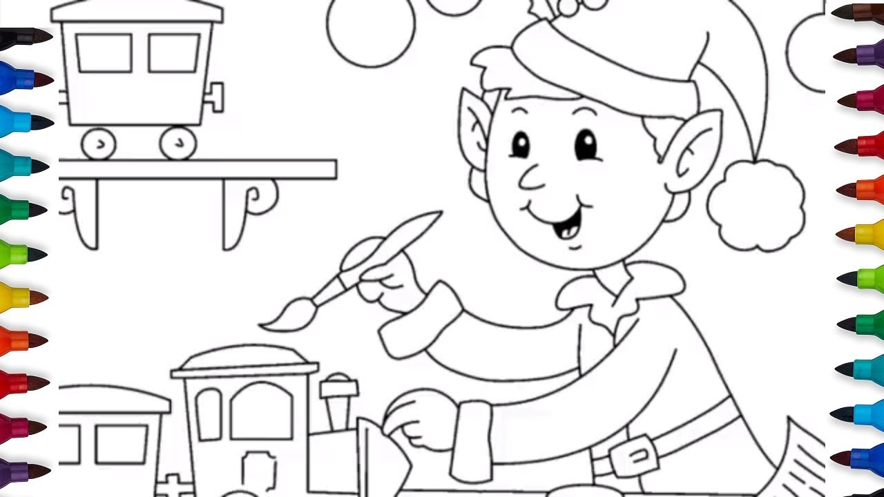 Toy Train Coloring Pages | Colouring Videos and Art for Kids - YouTube