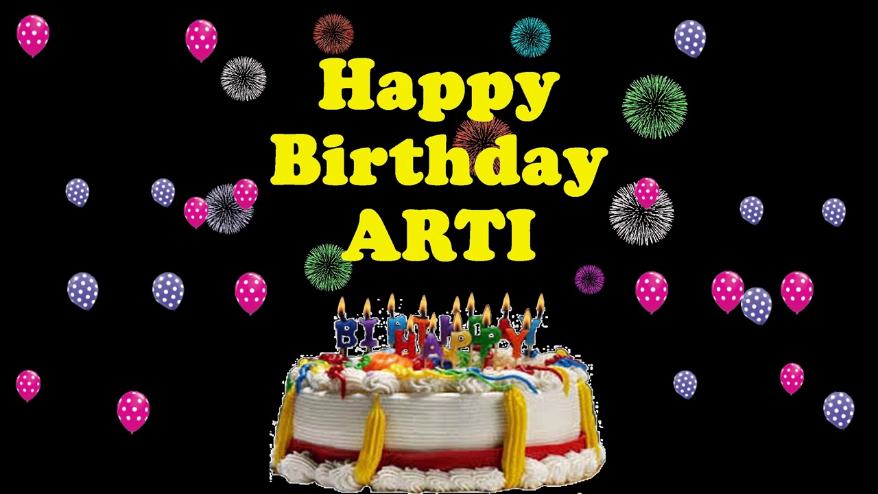 Happy Birthday Arti Cake Download Wallpaper