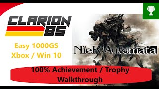 Nier Automata Xbox Game Pass Easy Way Achievement Trophy Guide