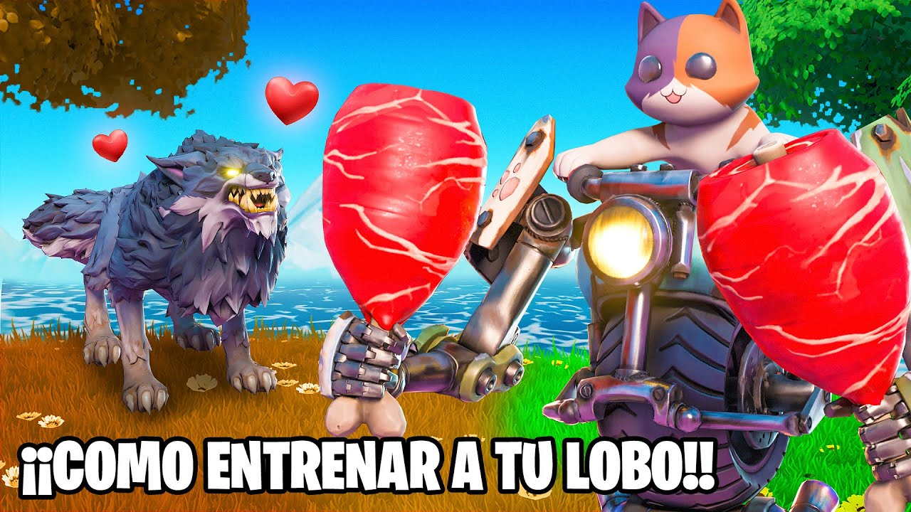 GATITO *ENTRENA A SU LOBO* en FORTNITE!!!😱😱 *EPICO* 🤯 - Gatoronron