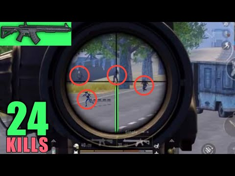 New Weapon Mk47 Finish | 24 Kills Vs Squad | PUBG Mobile