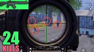 New Weapon Mk47 Finish | 24 Kills Vs Squad | PUBG Mobile