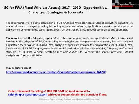 5G Fixed Wireless Access Industry Estimated to Grow at CAGR 84% in 2019-2025