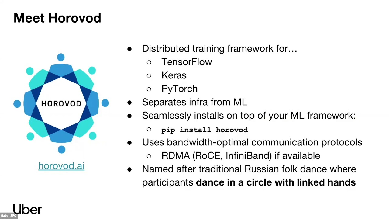 [Uber Open Summit 2018] Horovod: Distributed Deep Learning in 5 Lines of  Python