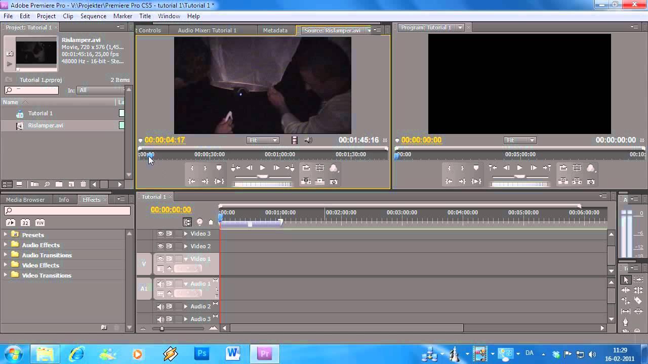 video redigering