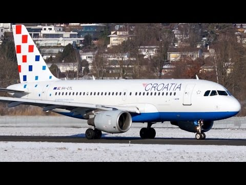 Croatia Airlines A319 ❄️  Winter Take-Off at Bern
